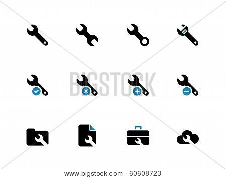 Repair Wrench duotone icons on white background.