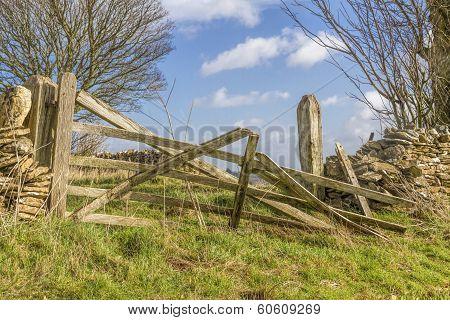 Broken Old Farm Gate