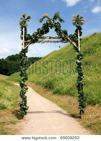 Gates For Jonas At Kernave. Lithuania