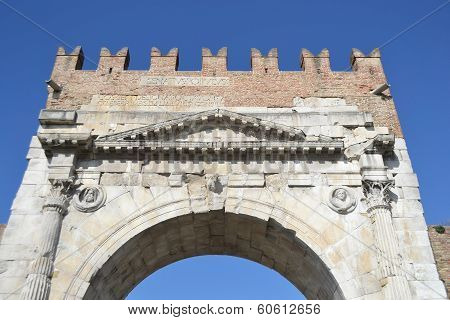 Arch Of Augustus In Rimini