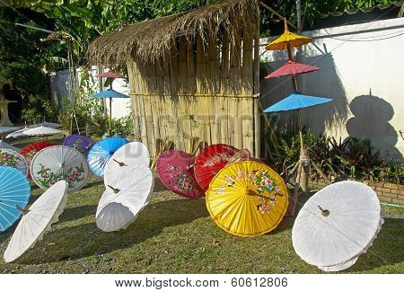 Production Of Colored Umbrellas