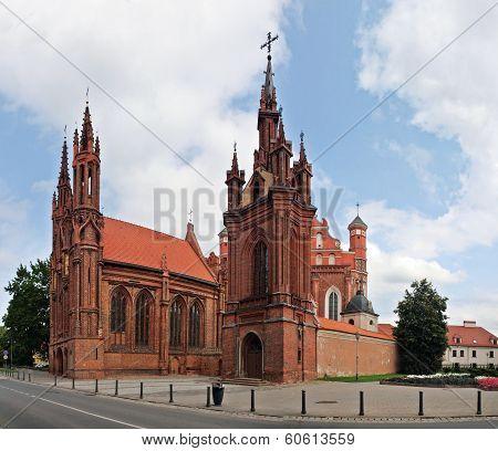 St. Anna's Church In Vilnius, Lithuania.