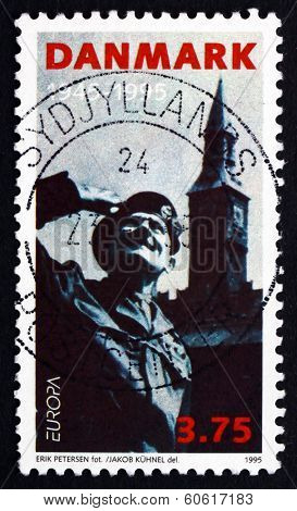Postage Stamp Denmark 1995 General Montgomery, Liberation