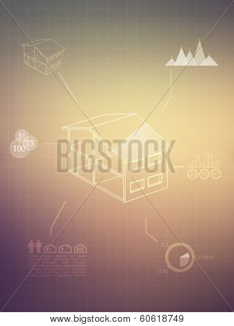 Real estate infographics - vector illustration