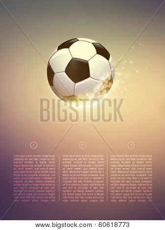 sparkling vector football/soccer ball