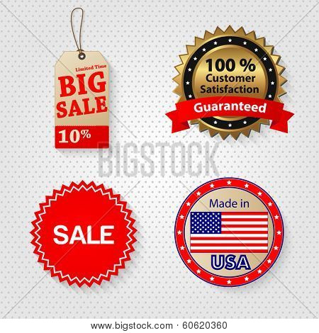 Retail sale tags vector illustration
