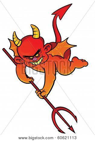 Little Devil Holding A Trident