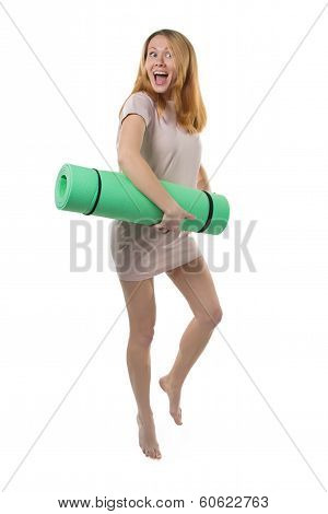 Pregnant Woman Going To Yoga