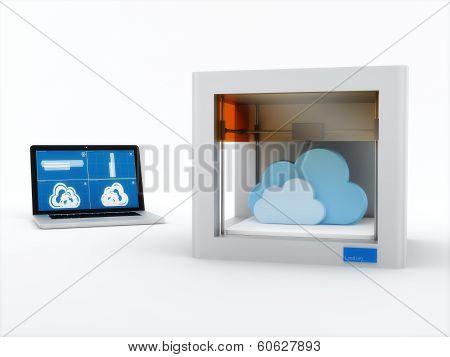 3d printer, printing cloud