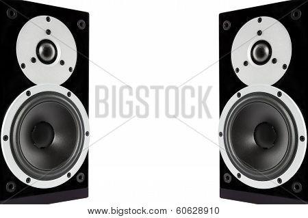 Black Glossy Music Speakers