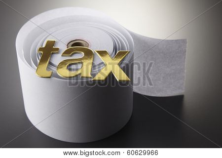 tax alphabets o the adding machine tape