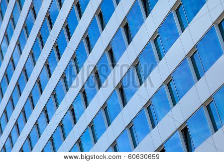 Pattern Of Rectangular Blue Windows