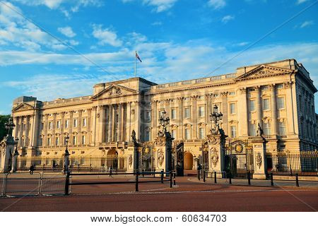 Buckingham Palace in the morning in London.