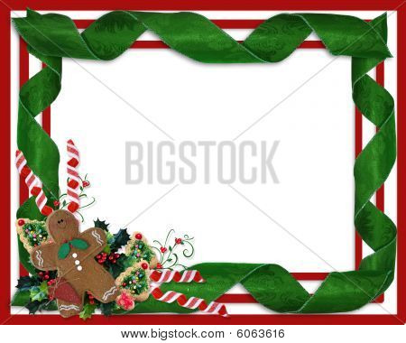 Christmas border ribbons and treats