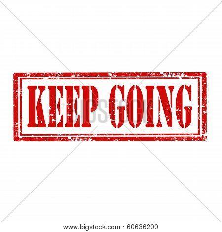 Keep Going-stamp