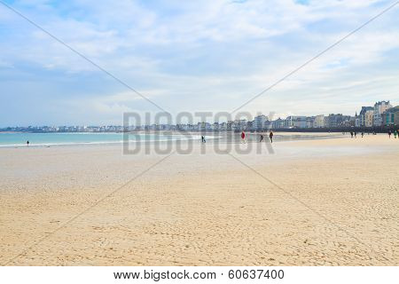 beach of Saint-Malo, Brittany, France
