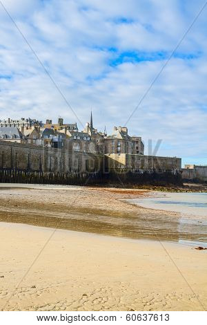 Saint-Malo City Wall , Brittany, France