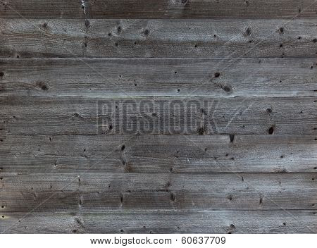 Old Horizontal Black Plank Wall