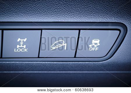 All wheells Drive And Other Safety Systems Switching Buttons.
