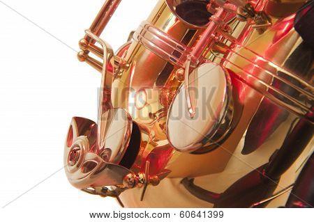 Brass Tenor Sax Belly In Closeup