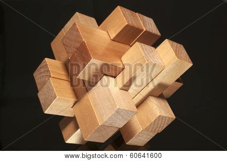 Building Blocks Forming A Challenging Puzzle