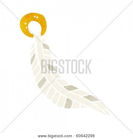 cartoon feather keyring