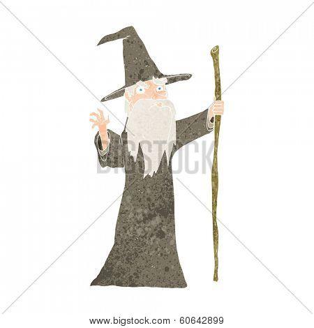 cartoon old wizard