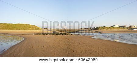 Estuary River Rhine Into North Sea