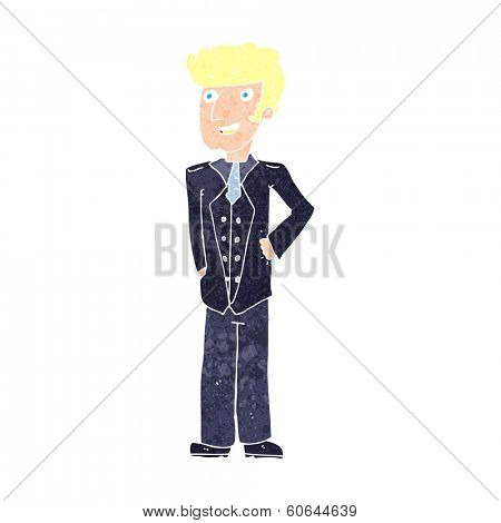 cartoon upper class man