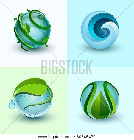 Abstract water icons