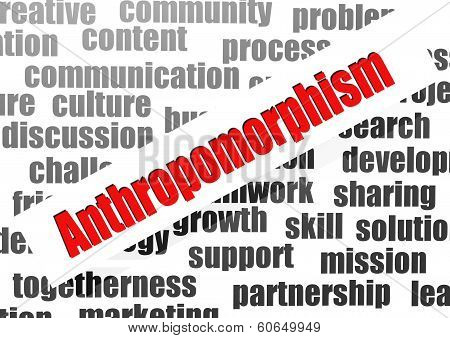 Anthropomorphism Word Cloud