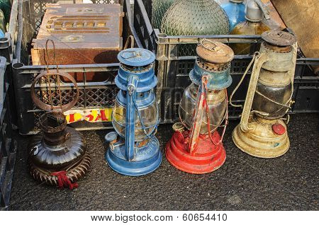 Rusty Antique Kerosene Lamps