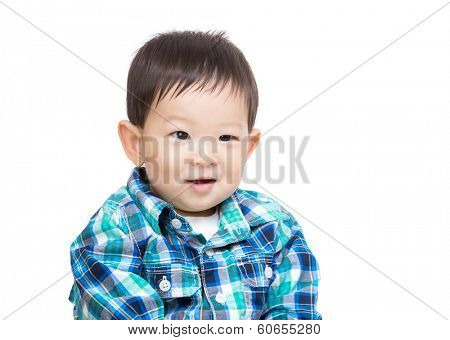 Asian baby boy portrait