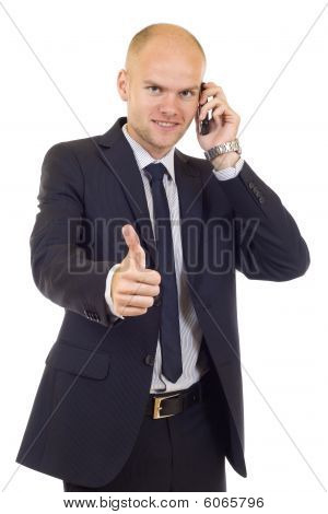Businessman Having An Affirmative Attitude