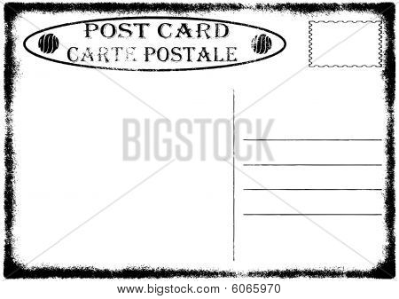 Blank old grunge postcard vector illustration