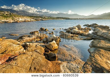 The Rocks At Arinella Plage In Corsica