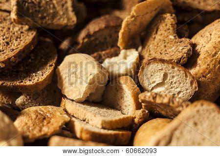 Stale bread.
