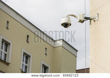 Security camera on a building.