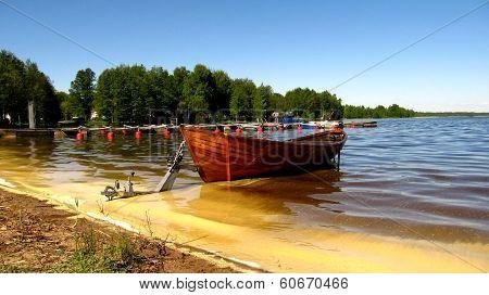 A boat in Pieksänjärvi