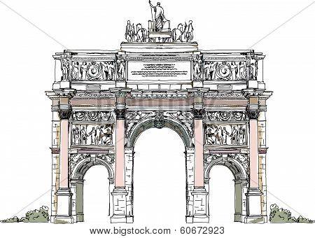 Sketch of Triumph Arch in Paris