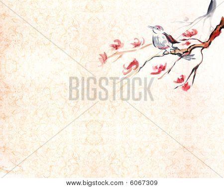 Singing Bird Background