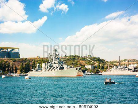 SEVASTOPOL, UKRAINE - JUNE 23 - Guided Missile Cruiser