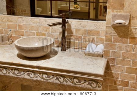 Marmor Waschbecken