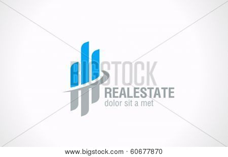 Real Estate vector logo design template. Realty abstract symbol. Business Corporate Financial icon