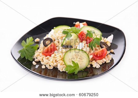 wheat grain and vegetables