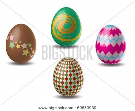 Easter eggs set vector illustration