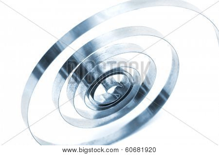 coil spring on a white background