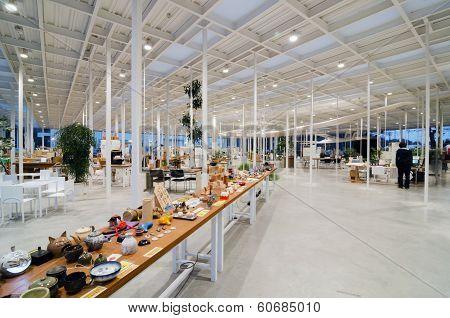 Tokyo, Japan - November 27 : Interior of Modern Workshop in Kanagawa Institute of Technology, Japan
