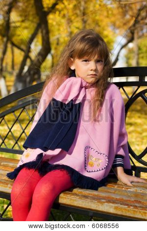 Little Girl On The Bench.