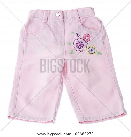Children's Wear - Tracksuit Isolated Over White Background.